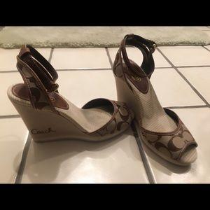 Coach wedge high heel shoe